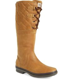 Women S Shoes Ugg Australia Brooks Tall Waterproof Leather