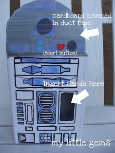 My Little Gems: Kid's Craft: Star Wars Valentine's Box {R2D2}