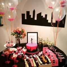 Sex and the city themed party. Bridal shower.  Chá de lingerie com o tema Sex and The City.