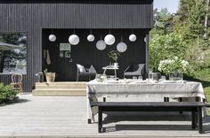 time of the aquarius: Midsummer party with Ikea / by Minna Jones Outdoor Spaces, Outdoor Living, Outdoor Decor, Outdoor Ideas, Scandinavian Style, Bauhaus, Exterior Design, Outdoor Gardens, Lamps