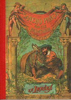 Quijote: SANCHO PANZA EN LA ISLA BARATARIA en imágenes - Tomo en francés - Editado en FRANCIA - 1995