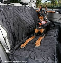 Dog Seat Cover with Hammock  Black Regular >>> More info could be found at the image url. This is an Amazon Affiliate links.