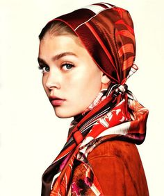 headscarf and colors. Lovely!
