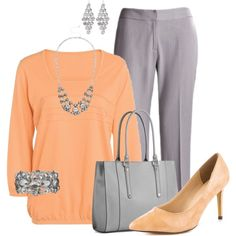 Plus Size Work Outfit A fashion look from July 2014 featuring Michael Antonio pumps and Kelly & Katie tote bags. Browse and shop related looks. Fashion Looks, Work Fashion, Curvy Fashion, Plus Size Fashion, Plus Size Work, Look Plus Size, Mode Outfits, Casual Outfits, Fashion Outfits