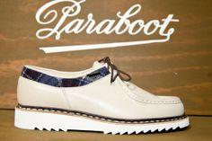 Chaussures Paraboot en cuir et tweed #chaussures #shoes #semelle #tweed #cuir #paraboot #fashion #menswear #commeuncamion