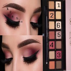 Simple eyeshadow look using Modern renaissance palette #glammakeuplooks