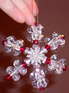 Happybird's Crafting Haven: How To Make A Sparkling Snowflake Ornament...Sooo Easy!