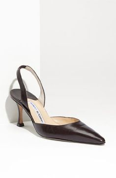 Amazon.com: Manolo Blahnik Carolyne 7 Slingback Pump: Shoes