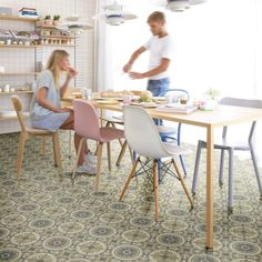 Flooring Direct can offer you over 150 types of lino flooring. Cushioned Vinyl Flooring, Vinyl Flooring Bathroom, Vinyl Sheet Flooring, Bathroom Vinyl, Kitchen Vinyl, Kitchen Floor, Retro Chic, Living Room Vinyl, Kitchen Shades