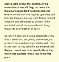 own children are viewed as extensions of themselves. You will never have your needs met, and will find yourself emptied of all emotions, and may be in harms way if you stay with a narcissist. - The Lost Self - Life After Narcissism Narcissistic People, Narcissistic Mother, Narcissistic Behavior, Narcissistic Abuse Recovery, Narcissistic Sociopath, Narcissistic Personality Disorder, Psychopath Sociopath, Verbal Abuse, Emotional Abuse