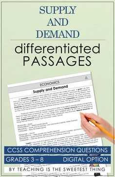 Differentiating instruction, integrating Social Studies into reading, AND addressing standards like Common Core is daunting. Reading Lessons, Math Lessons, Differentiated Instruction, Comprehension Questions, Reading Passages, Reading Levels, Differentiation, Economics, Social Studies