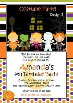 Custom Personalized Halloween Birthday Party by theprintfairy