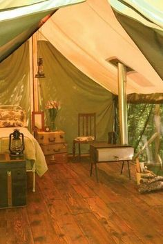 """Beautiful glamping tent!<3 <3 <3 our pins? """"LIKE"""" us at: https://www.facebook.com/bound4burlingame to get camping tips, recipe ideas and outdoor finds on your newsfeed."""