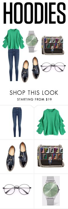 """""""Hoodies ❄️❄️"""" by bouthinah ❤ liked on Polyvore featuring J Brand, Fendi and Paul Smith"""