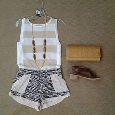 effiesinc #Lookoftheday!!! @townsen Ebony nuetral stripe top, and safari short, @sylviabenson long wooden Hoda necklace, natural straw clutch, and @jeffreycampbell Columbo sandal in brown leather.#stayingnuetral #surfandsafari #patternplay #aboutalook #ootd #resort2015 1mon Read more at http://websta.me/n/effiesinc#XSy8cM8rGuEV1jUx.99