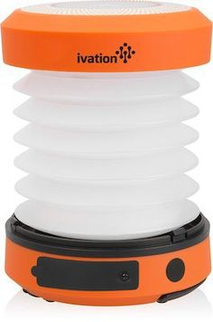 Ivation LED Camping Lantern Collapsible Rainproof Flashlight torch Mini Lamp with hanging handle 2 Lighting levels Battery Operated Portable Handy and Easy to store >>> To view further for this item, visit the image link. (This is an affiliate link)