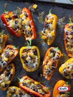 Sweet Mini Bell Pepper Poppers - A delicious appetizer to try at your next group get-together. Ready in only 20 minutes!
