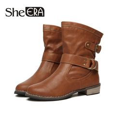 2017 New Women Boots Zapatos Mujer Chaussure Spring Women Shoes Ankle Boots Botas Ladies Riding Boots Casual Martin Boots #Affiliate