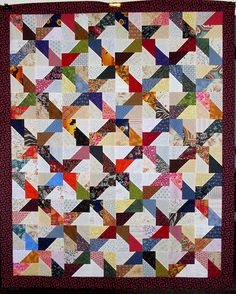 T-Scrappy Split Rectangles by Linda Rotz Miller Quilts & Quilt Tops, via Flickr