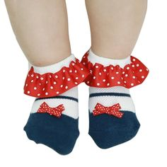 0.93$  Watch here - Lace Non-slip Ankle Sock Cotton Infant Baby Girl Ruffled Polka Dot Sock 0-3Y Kid   #SHOPPING