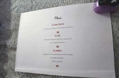 Tutorial para crear el menú de la boda