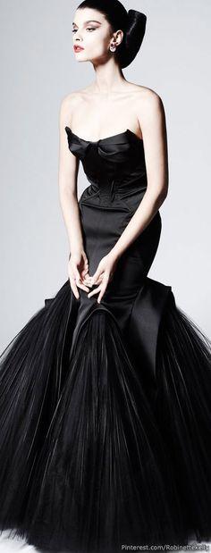 Gorgeous Zac Posen black goddess gown!