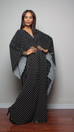 Kaftan Dress - Kimono Butterfly Maxi Dress : Funky Elegant Collection