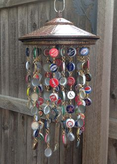 Bottle Cap Wind Chime - Image only