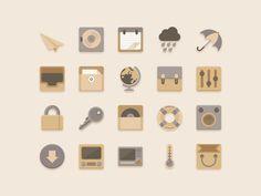 Flat #Icons Vanilla Choc Chip Theme (free #psd) by Sunbzy