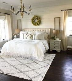 99 Trendy Farmhouse Master Bedroom Design Ideas - 99 Trendy Farmhouse Master Bedroom Design Ideas – An open family room and kitchen where the family eats is designed in charming farmhouse style which makes it a warm and welcoming heart for the home. Home Decor Bedroom, Home, Bedroom Makeover, Home Bedroom, Farmhouse Bedroom Furniture, Farmhouse Interior, Open Family Room, Remodel Bedroom, Rustic Master Bedroom