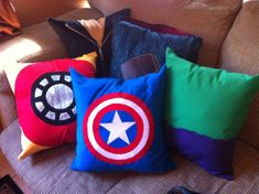 Avengers Pillows these are super over priced but I like the idea