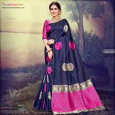 Explore the collection of blue saree from the house of Eanythingindian.Get 100 % Orignal,Indian Traditional Design. which gives Ethnic wear fashionable and traditional look.  #eanythingindian #sarees #fashion #beindian #buyindian #ethnicwear #sareefashion #sareecollection #traditional Traditional Looks, Traditional Design, Blue Saree, Saree Styles, Embroidered Silk, Saree Collection, Sarees Online, Ethnic, Indian