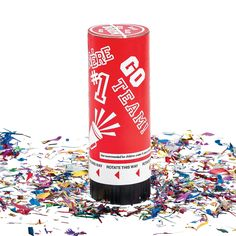 Red School Spirit Party Poppers - OrientalTrading.com
