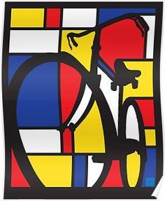 Mondrian Bicycle Posters