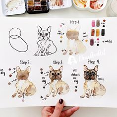 Likes, 18 Comments - Anna Koliadych Watercolor Paintings For Beginners, Watercolor Art Lessons, Watercolour Tutorials, Watercolor Drawing, Gouache Painting, Watercolor Animals, Watercolor Techniques, Easy Watercolor, Step By Step Watercolor
