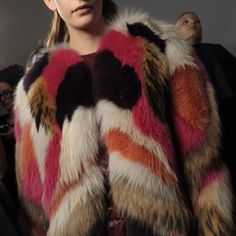 Fit to luv the colorful block coat Peter som