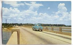 Pensacola Bay - 3 Mile Bridge 1950s