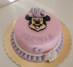 Minnie cake (pastel colors, pink, light purple)