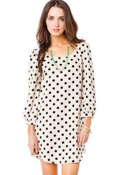polka dot shirt dress... I would wear with leggings