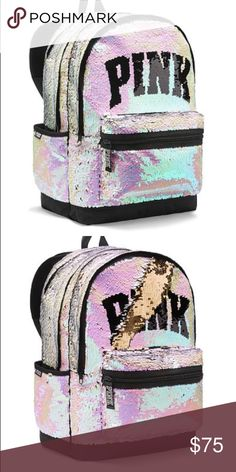 8f0bf3375b NIP VS PINK SEQUIN BLING BACKPACK New in online package! PINK Victoria s  Secret Bags Backpacks