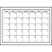 Whiteboard Dry Erase Monthly Calendar Decal