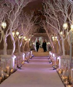 White 14 Trees Reception Decoration   Pinterest   Reception ...