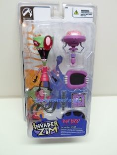 Invader Zim by Palisades and Nick HOT TOPIC Exclusive INVADER ZIM Figure Sealed