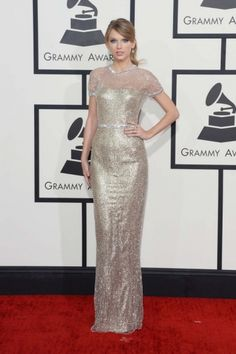 Taylor Swift style file: Taylor Swift in Gucci Première at the 2014 Grammys