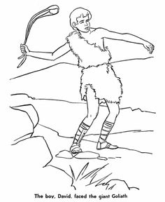 Bible Character Coloring Pages David And Goliath Activity Page Sheets