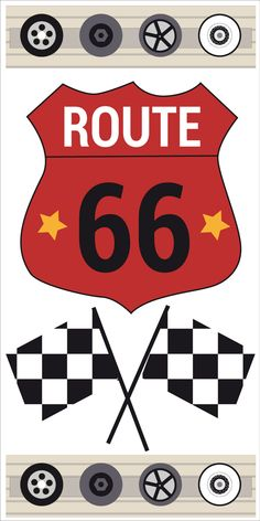 route 66 on pinterest toile stickers and murals. Black Bedroom Furniture Sets. Home Design Ideas