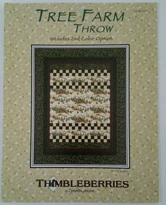 Tree Farm Throw LJ 92311 Includes 2nd Color Option Lynette Jensen Thimbleberries #Thimbleberries
