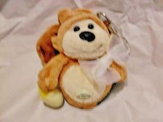 Cell phone holder with metal clip stuffed animal cutie! 1.99 ship