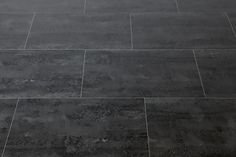 """Vinyl Tile - 10.8mm HDF Click Lock - Stone Collection - Licorice with Cork Underlay / 18""""x24"""""""