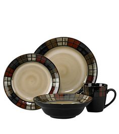 Pfaltzgraff Everyday Calico 16 Piece Dinnerware Set, Service For 4